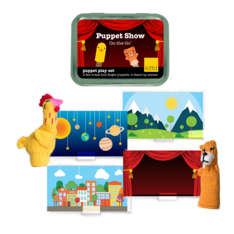 Puppet Show On-The-Go Travel Play Set