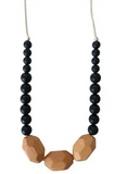 Chewable Charm Teething Necklace- Austin Black