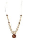 Chewable Charm Teething Necklace- Collins Cream