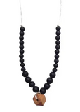 Chewable Charm Teething Necklace- Collins Black