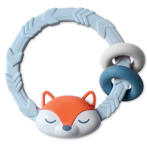 Itzy Ritzy Silicone Teether Rattle- Fox