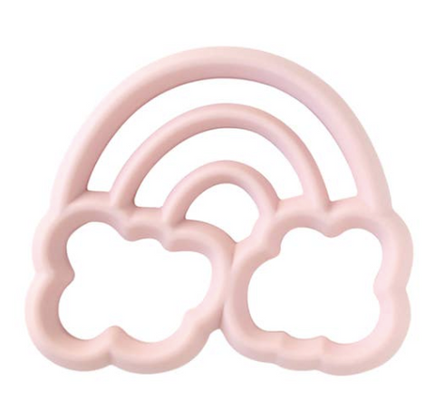 Itzy Ritzy Chew Crew Silicone Teether- Pink Rainbow