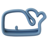 Itzy Ritzy Chew Crew Silicone Teether- Blue Whale