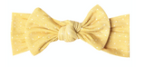 Copper Pearl Knit Headband Bow - Marigold