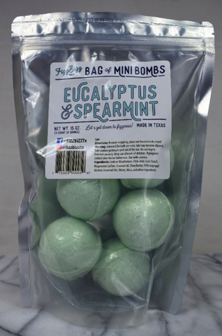 Fizz Bizz Mini Bombs- Eucalyptus and Spearmint