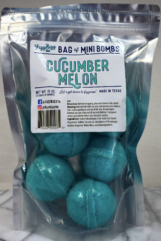 Fizz Bizz Mini Bombs- Cucumber Melon