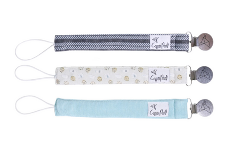 3 Pack Pacifier Clips- Chip