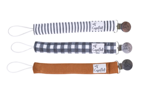 3 Pack Pacifier Clips- Scotland