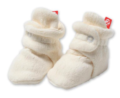 Zutano Cozie Fleece Stay-On Bootie - Cream