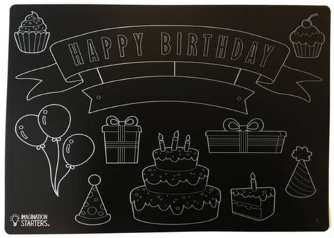 Chalkboard Happy Birthday Placemat