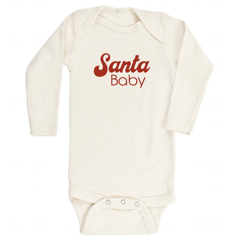 Tenth and Pine Long Sleeve Bodysuit-  Santa Baby