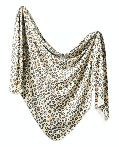 Copper Pearl Knit Swaddle Blanket- Zara