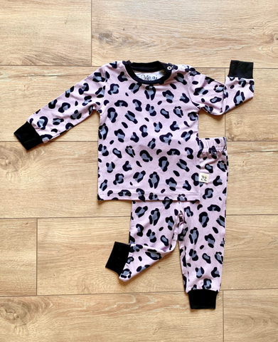 Long Sleeve Pajama Set-  Lana Leopard