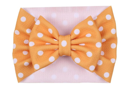 The Perfect Bow Headwrap - Yellow Polka Dot