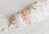 Copper Pearl Knit Swaddle Blanket- Enchanted