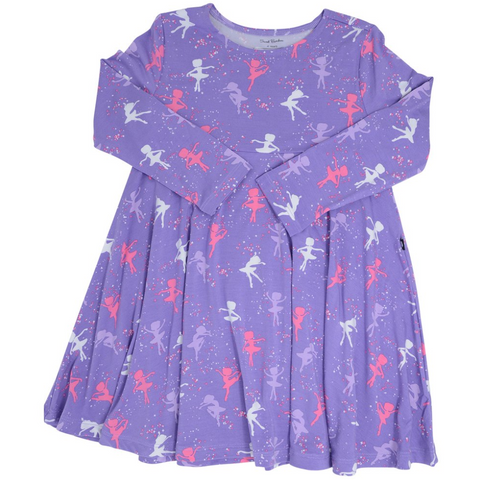 Swirly Girl Dress in Ballerina