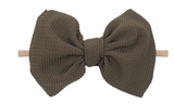 6 inch bow on nylon- ALL colors