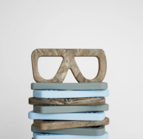 Glasses Teething Toy- Cement