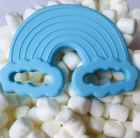 Rainbow Teething Toy- Cyan