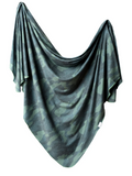 Copper Pearl Knit Swaddle Blanket- Hunter