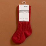 Spice Red Knee High Socks