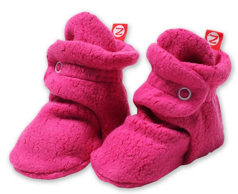 Zutano Cozie Fleece Stay-On Bootie - Fuschia