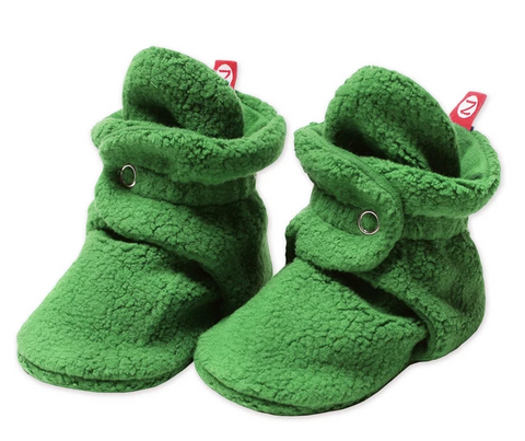 Zutano Cozie Fleece Stay-On Bootie - Apple