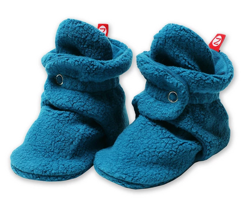 Zutano Cozie Fleece Stay-On Bootie - Pagoda