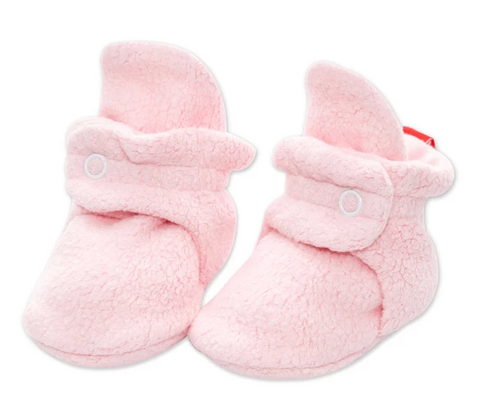 Zutano Cozie Fleece Stay-On Bootie - Baby Pink