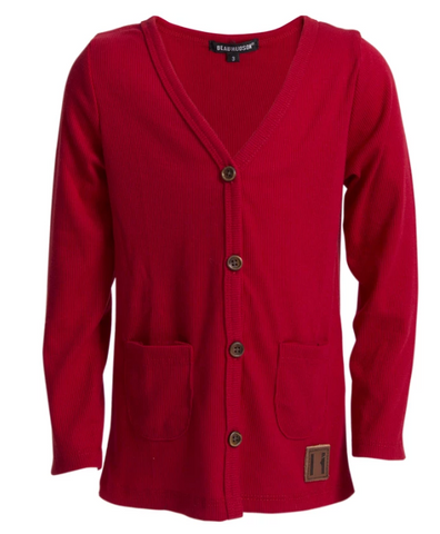 Beau Hudson Signature Cardigan- Chilli Red
