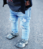 Beau Hudson Blue Distressed Denim Jeggings