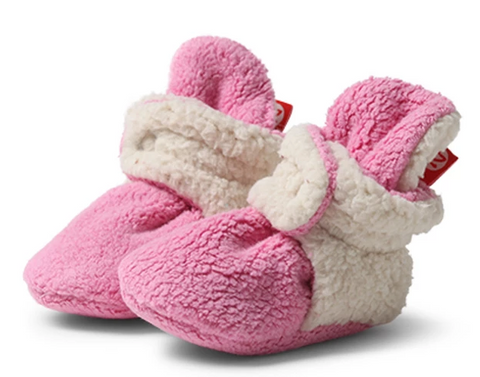 Zutano Cozie Furry Fleece Bootie - Hot Pink