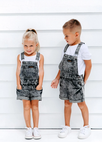 Beau Hudson Denim Overalls- Black