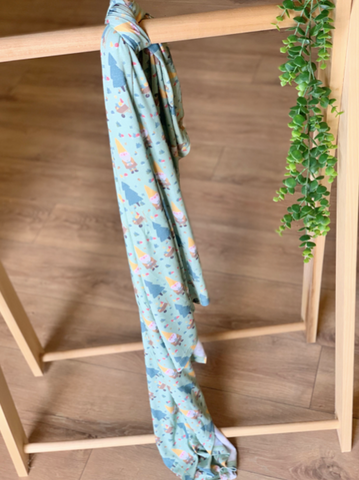 Single Layer Swaddle- Garden Gnomes
