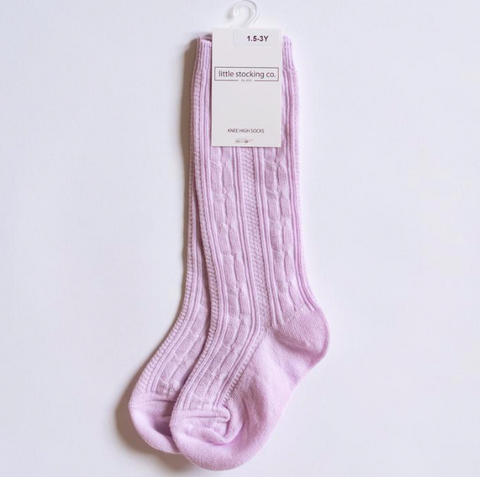 Lavender Knee High Socks