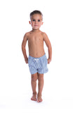 Beau Hudson Kid's Coastal Pinstripe Swim Shorts