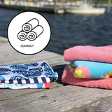 UPF 50 Hooded Sunscreen Towel- Coral Anchor