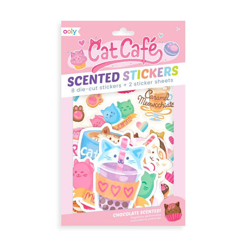 Chocolate Scented Cat Cafe Stickers