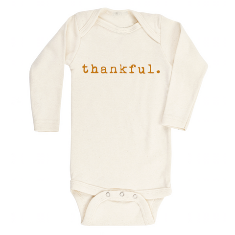 Tenth and Pine Long Sleeve Bodysuit-  Thankful