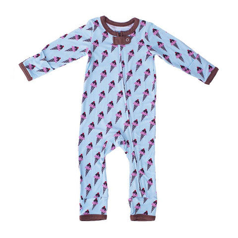 Kozi & Co Ice Cream Treat Zipper Bamboo Coverall
