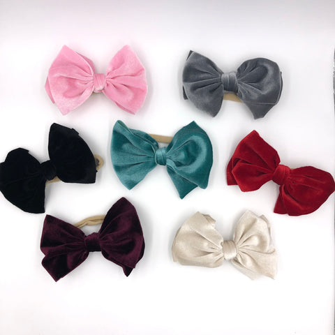 Velvet Bows on Nylon