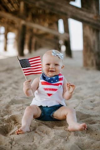 Copper Pearl Single Bandana Bib - Patriot