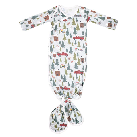 Newborn Knotted Gown- Kringle