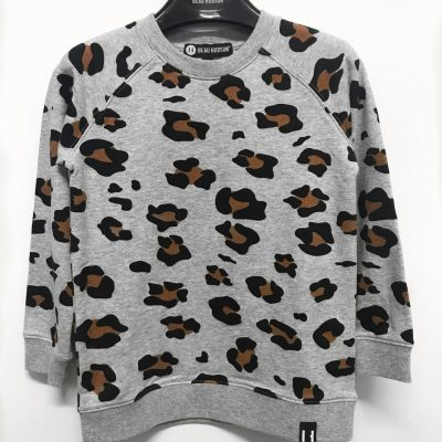 Beau Hudson Leopard Sweater- Kids