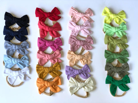 Linen Bow on Nylon
