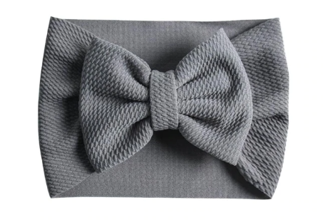 The Perfect Bow Headwrap - Grey