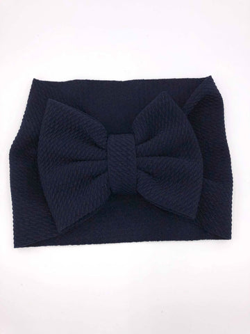 The Perfect Bow Headwrap - Navy BlueDISCONTINUED STYLE