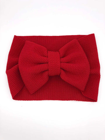 The Perfect Bow Headwrap - Red-DISCONTINUED STYLE