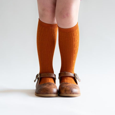 Pumpkin Spice Knee High Socks
