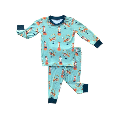 Long Sleeve Pajama Set- Tiger Act